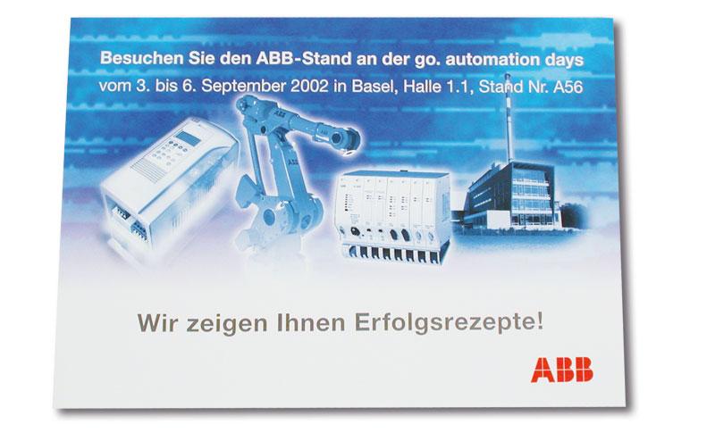 Einladungskarte go.automation für ABB