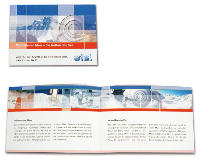 Einladungskarte für Atel